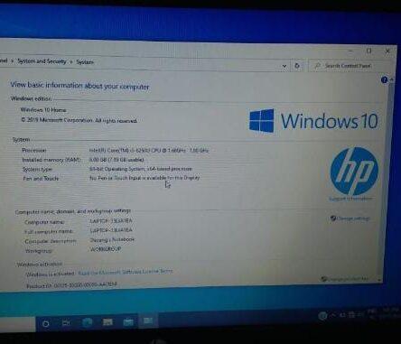 HP PAVILLION- 14 Ce0068st- Intel Core i5- 8250U CPU @ 1.60 GHz 180 GHz 8 GB RAM / 1 TB HDD 64 Bit Operating System 14″ Screen / Backlight Keyboard / Light Weight Windows 10 Home 15 Days Warranty
